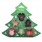 Kit 6 minicortadores Navidad