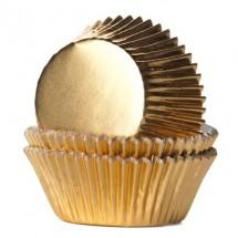 Cápsulas cupcakes oro