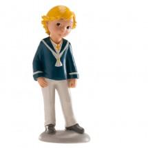 Figura comunión niño rubio traje azul