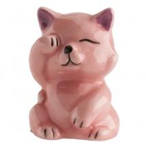 Figura roscón gato rosa