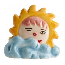 Figura roscón sol nube azul
