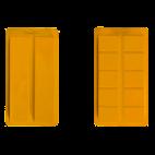 Molde de turrón estrecho doble