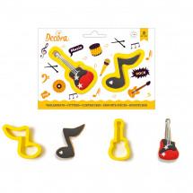 Set de cortadores nota - guitarra