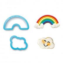 Set de cortadores arco íris y nube