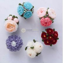 15/05 Cupcakes de flores con buttercream Sweet Moses