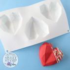 Molde para pastel Corazón geométrico