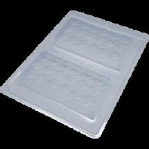 Molde tableta de chocolate Cuadrados 3D BWB