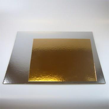 Set de 3 bases oro/plata 30x30cm
