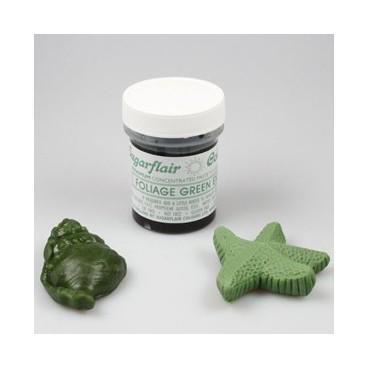 Sugarflair. Colorante en pasta Foliage Green Extra.