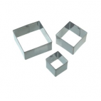Set de 3 mini cortadores cuadrados