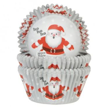 Cápsulas cupcakes Papa Noel