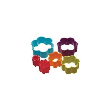 Colourworks Set de 6 cortadores flores