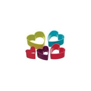 Colourworks Set de 5 cortadores corazón