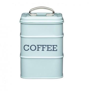 Lata para café azul