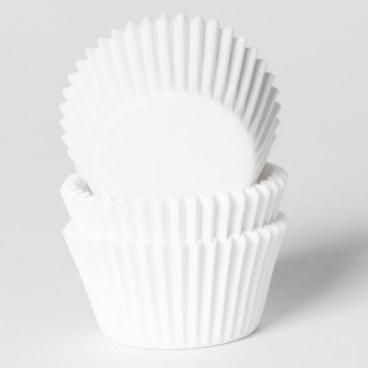 60 Cápsulas mini cupcakes blancas. HoM.