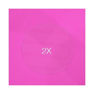 Set de 2 Discos acrílicos 19 cm. sin marca