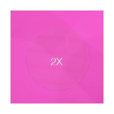 Set de 2 Discos acrílicos 21 cm. sin marca