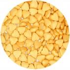 Corazones de azúcar Oro Funcakes