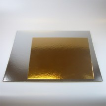 Set de 3 bases oro/plata 25x25 cm