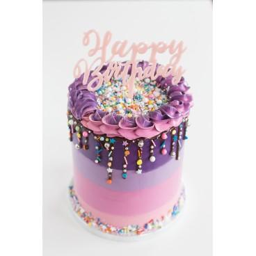 21/11 Drip cake con degradado y explosión de sprinkles: ¡te llevas tu tarta!