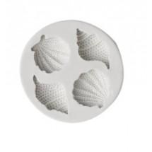 Molde de silicona con forma de conchas y caracolas